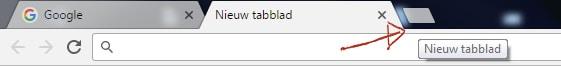 nieuw tabblad openen Chrome Browser