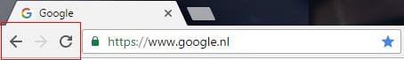 voorbeeld navigatie browserbalk