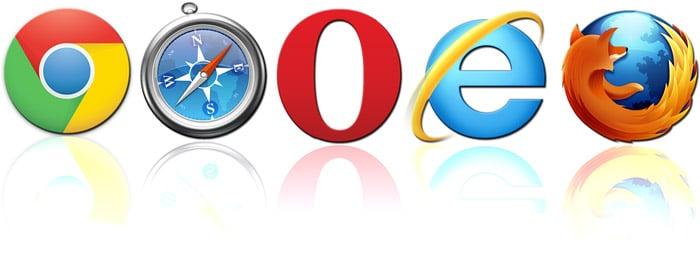 voorbeelden van webbrowsers