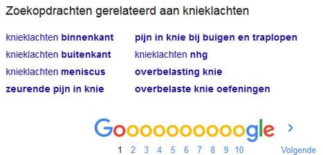 Gerelateerde zoekopdrachten vinden in Google